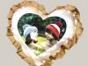 Подушка «сердце» с золотыми рюшами