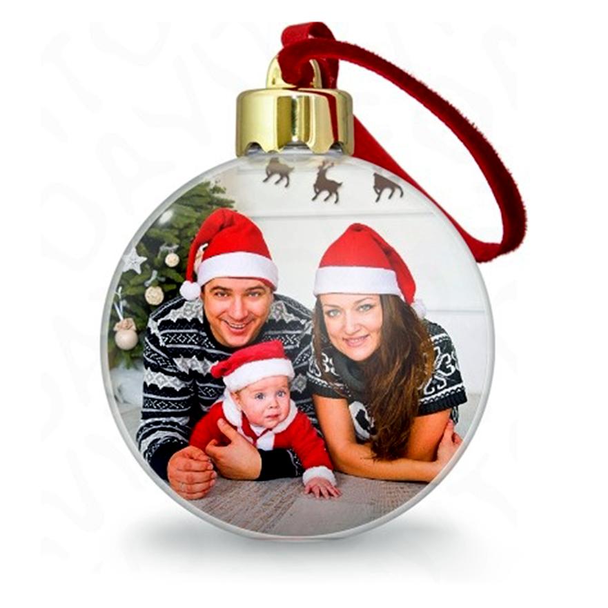 Новогодняя игрушка с фотографией на заказ всех